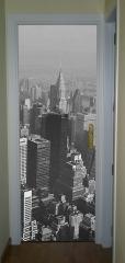 Im�n gigante para decorar puertas con dise�o de paisaje de nueva york en blanco y negro..incluye la tiras de ...
