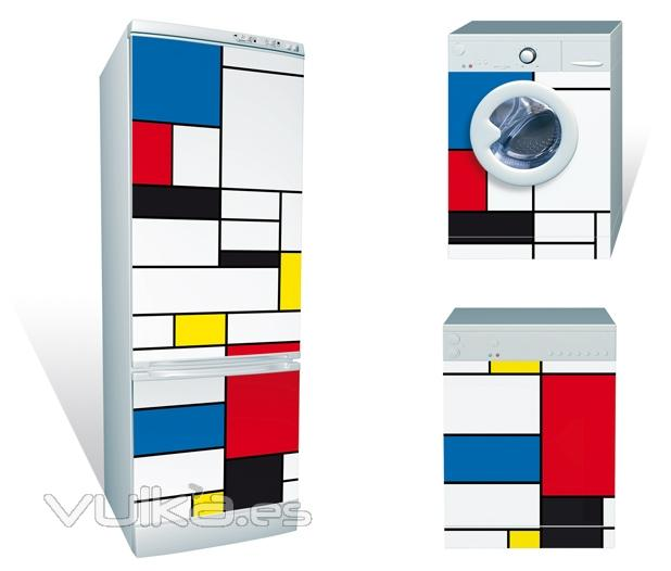 Foto dise o de rectangulos de colores en im n gigante - Electrodomesticos de colores ...