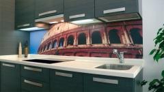 Foto del coliseo sobre im�n para cubrir la zona entre muebles de cocina.