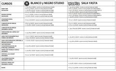 Listado de intensivos de Verano Swing Lindy Hop Blues Blanco y Negro Studio y Sala Yasta