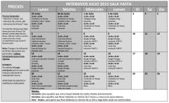 Horarios intensivos de Verano Swing Lindy Hop Sala Yasta