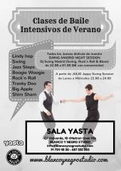 Cartel Intensivos de Verano Swing Lindy Hop Sala Yasta