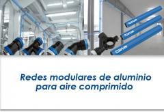 Redes modulares de aluminio para aire comprimido instalaciones de aire
