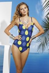Ba�ador topos basmar. ba�ador de lunares grandes en azul y pistacho ba�adores online lenceriaemi.com