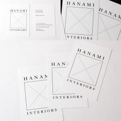 Dise�o de las tarjetas de visita de Hanami Interiors