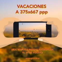 Creatividad y dise�o del anuncio de las vacaciones de verano de la agencia de publicidad Gruetzi