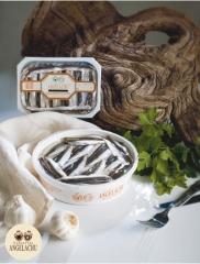Boquerones tarrina 700 gr conservas angelachu