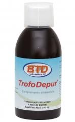 Complemento depurativo integral  con acción depurativa global sobre el cuerpo, en forma de jarabe a