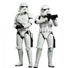 Pack de 2 figuras movie masterpiece 1/6 stormtrooper 30 cm