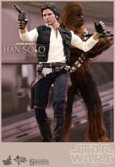 Pack de 2 figuras movie masterpiece 1/6 han solo & chewbacca 30 y 36 cm