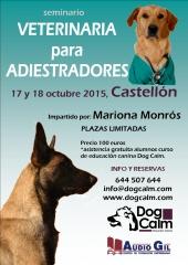 Seminario veterinaria para adiestradores, por mariona monrós