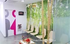 Sala espera, reforma clínica broch dental, por area construction technology, barcelona