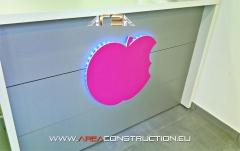 Logo leds. reforma cl�nica broch dental, area construction technology, barcelona