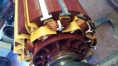Bobinado de Rotor de Convertidor de Frecuencia Soudronic.