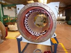 Bobinado de motor indar de 1030 cv. a 600 rpm.