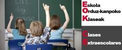 Eskola orduz-kanpoko klaseak ikastetxean /clases extraescolares en el cole
