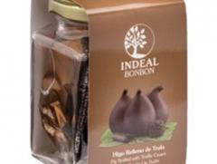 Tarro 5 bombones de higo de trufa con chocolate negro