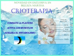 Crioterapia: un nuevo servicio en belleza martha