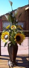 Ramos de flores iluminados