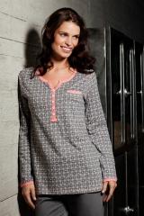 Rebelle pastunette pijamas lenceria homewear algodon pijamas manga larga lenceriaemi.com