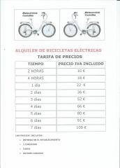 ALQUILER DE BICICLETAS ELECTRICAS. TAMBIEN CONVERTIMOS TU BICICLETA CONVENCIONAL A EL�CTRICA