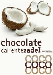 Chocolate Caliente ZADEL con trocitos reales de Coco.