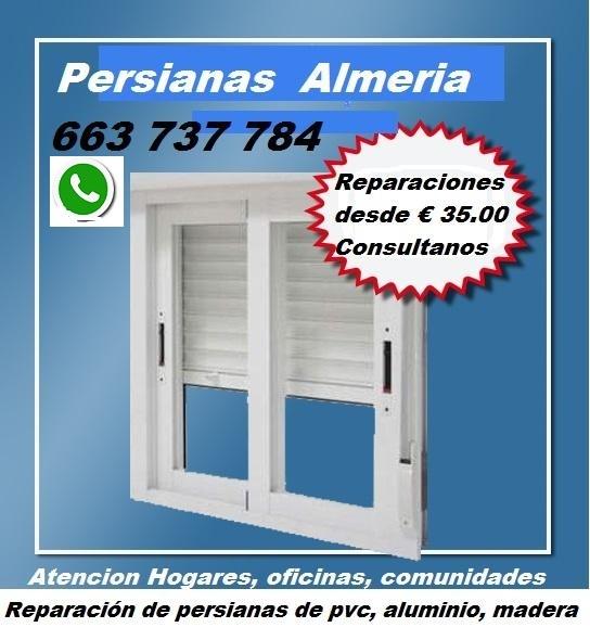 Cerrajero - Persianista  -  663 737 784  WhatsApp Almeria