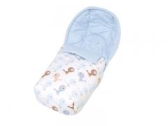 Saco para silla de paseo de beb�, polar, twity silvester vintage,  azules y  blancos. sal de coc�.