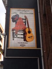 Bodega La Guitarra, en Tilburg (Holanda) 270x150cm