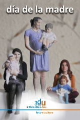 Regalo d�a de la madre - threedee-you foto-escultura 3d-u