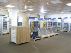 Exposicion 1 paneles led 600x600 y focos led circulares