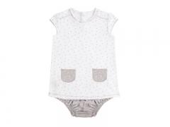 Vestido y culotte para beb� mini stella blanco. hilo de algod�n, de baby clic.