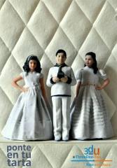 Ponte en tu tarta - figuras 3d para tartas de boda, comunión y cumpleaños - foto-escultura 3d-u