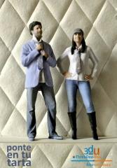 Ponte en tu tarta - figuras 3d para tartas de boda, comuni�n y cumplea�os - foto-escultura 3d-u