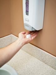 Hygolet hygiene. dispensador de jabón flex. dosificador de jabón en espuma y gel.