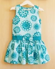 Vestido de niña cute&trendy 100% algodón