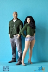 Ponte en tu tarta - figuras de novios para tartas de boda - threedee-you foto-escultura 3d-u