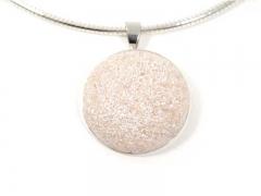 Collar con cadena de plata 925 de 2mm con piedra de resina.