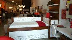 Dormitorio juvenil en chapa natural y lacado