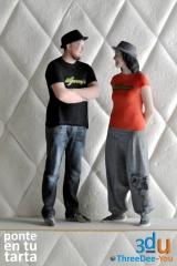 Figuras Ponte En Tu Tarta - Figuras de novios para tartas de boda - ThreeDee-You Foto-Escultura 3d-u
