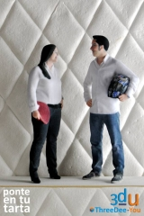 Figuras de novios para tartas de boda - Ponte En Tu Tarta - ThreeDee-You Foto-Escultura 3d-u