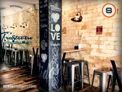 Decoración de interior estilo vintage de helados artesanales trastevere, totana, murcia. scalaimagen