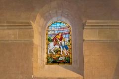 Vidriera de San Martín. Iglesia de San Martín en Sorzano, La Rioja.