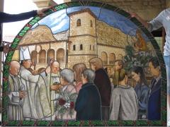 Vidriera para Basílica de la Virgen del Olmo. Azagra, Navarra.