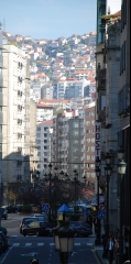 Una vista de la calle donde estamos, en Vigo