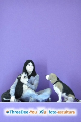 Inmortaliza tu mascota - figuras 3d de animales - threedee-you foto-escultura 3d-u