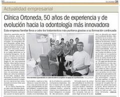 50 anys de ORTONEDA CLINICA DENTAL