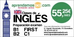 Preparación exámenes de inglés - fce- cae- b2- ietls - toefl granollers