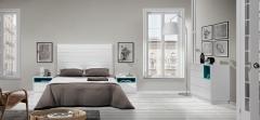 Dormitorio fabricado en blanco brillo