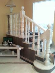 Balaustre y escalera